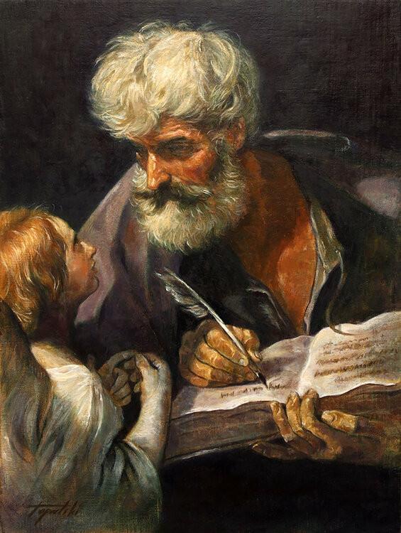 Guido Reni, St. Matthew and the Angel, 1635-40