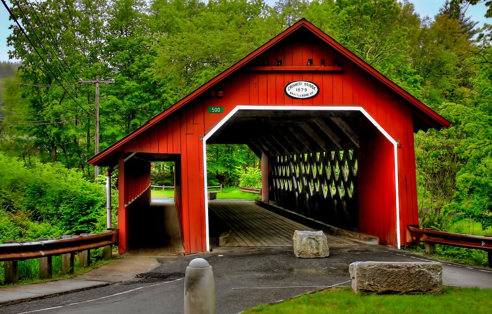 the Creamery Covered Bridge in Brattleboro