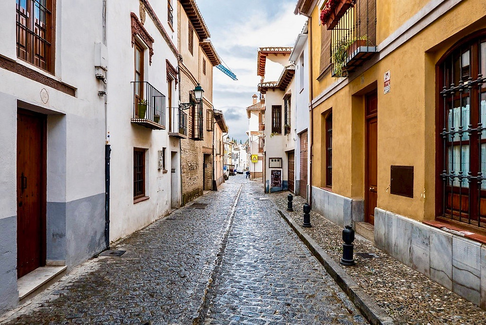 street in the Albaicín neighborhood of Granada