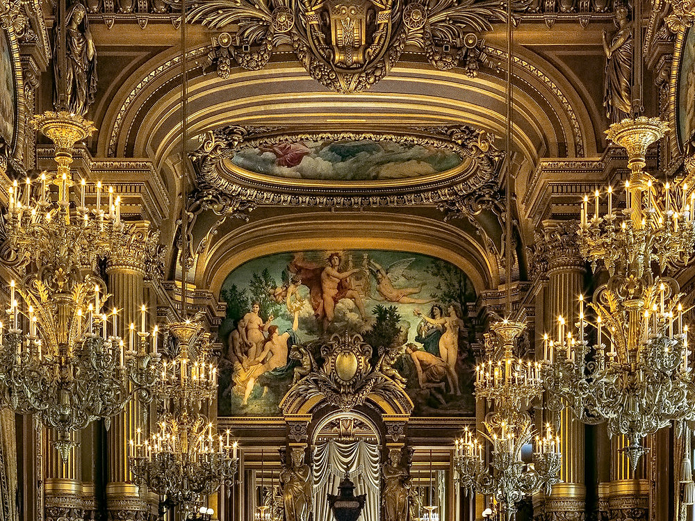 detail of the Grand Foyer in the Paris Opera