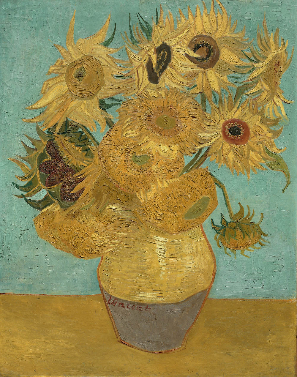 Van Gogh, Sunflowers, 1988-89