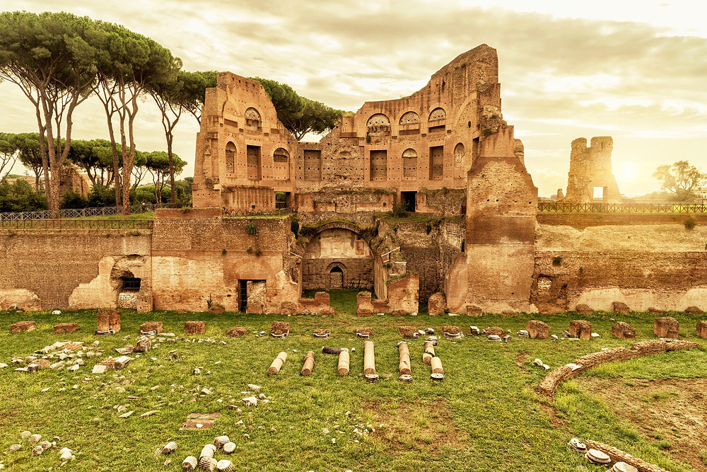 Stadium of Domitian on Palatine Hill in Rome