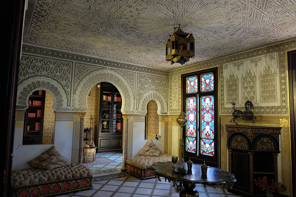 the Moorish Salon at the Chateau de Monte Cristo