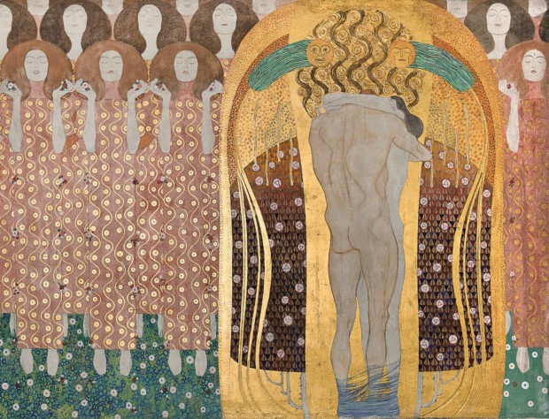 Detail of Klimt's 1902 Beethoven Frieze, which marked the beginning of his Golden Period