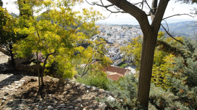 hike to the ruins of the Church of Izar for the view of Frigiliana