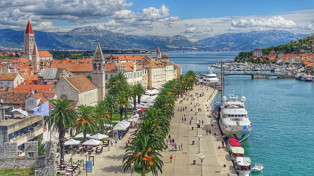 the promenade in UNESCO-listed Trogir