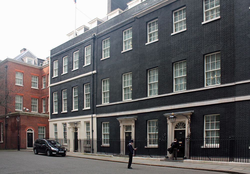 10 Downing Street in London. image source: Wikipedia