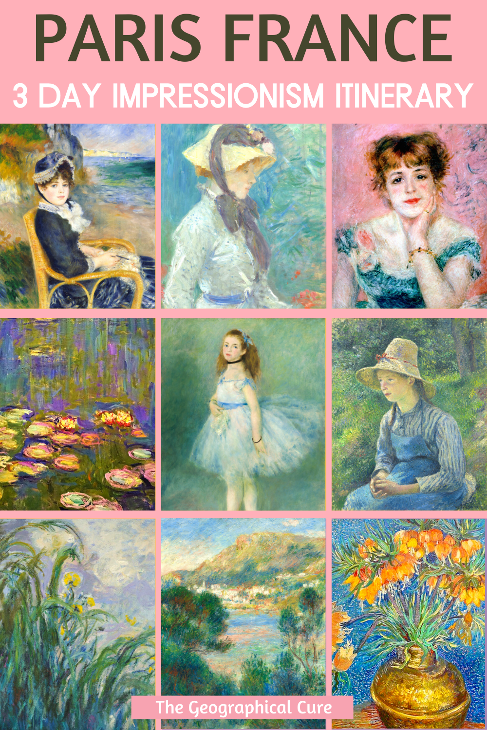 guide to Impressionist paintings in Paris