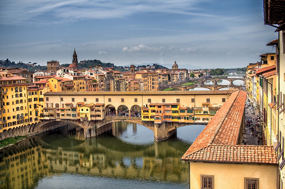 the Ponte Vecchio over the Arno River in Florence