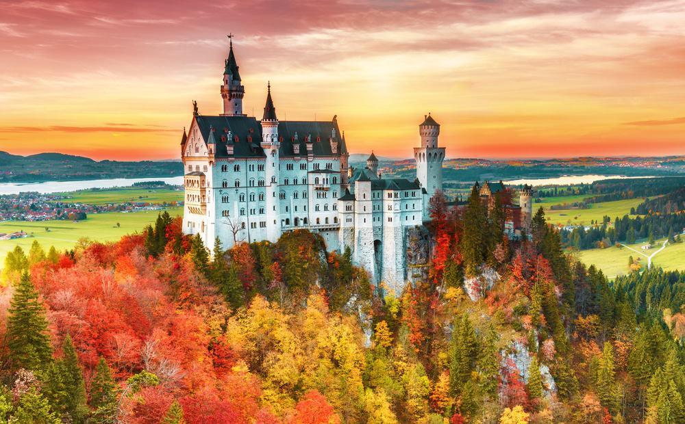 Neuschwanstein Castle in Bavaria, Ludwig's masterpiece