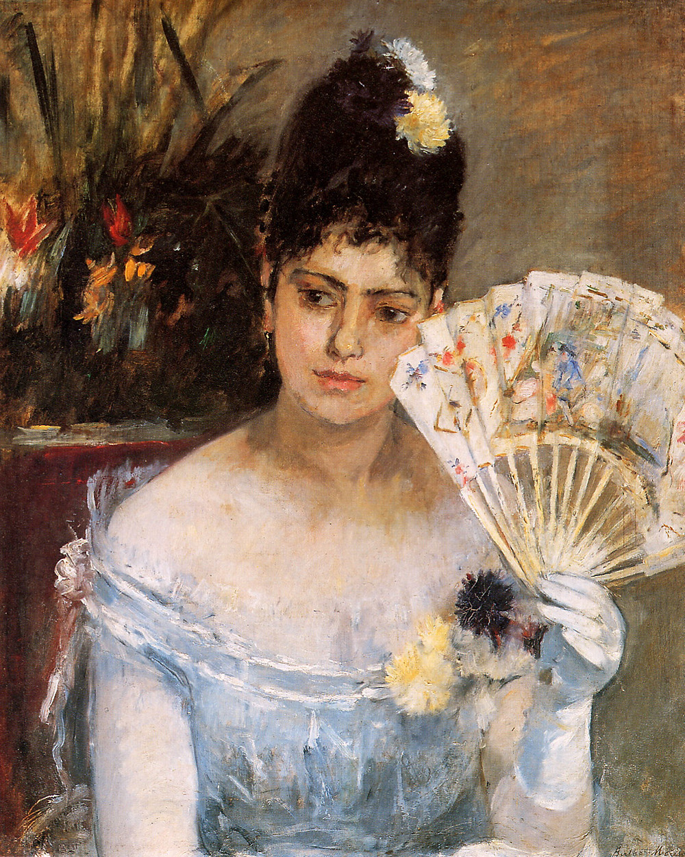 Berthe Morisot, At the Ball, 1875 -- my favorite piece of hers