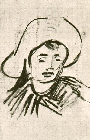 Vincent Van Gogh, Sketch of Unidentified Boy, 1890  -- possibly René Secrétan?