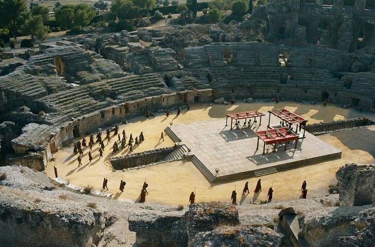 the ruins of Italica as the Dragonpit in Game of Thrones