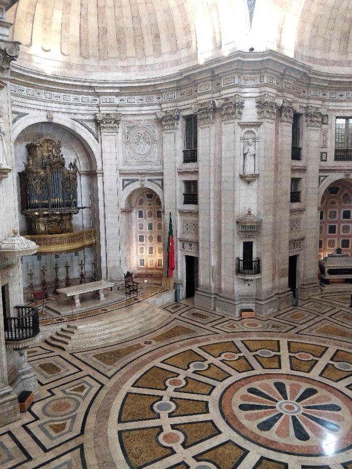 interior of the Lisbon's National Pantheon