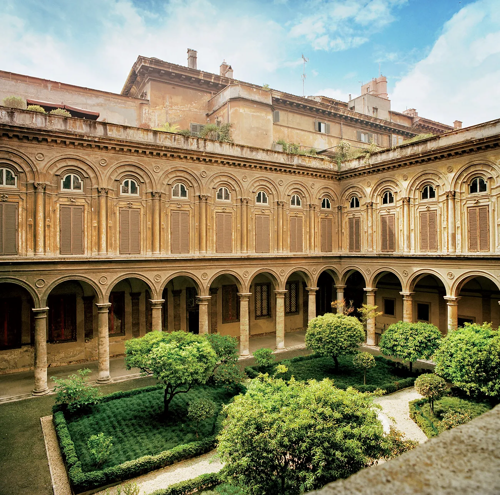 one of four courtyards at the Doria Pamphilj