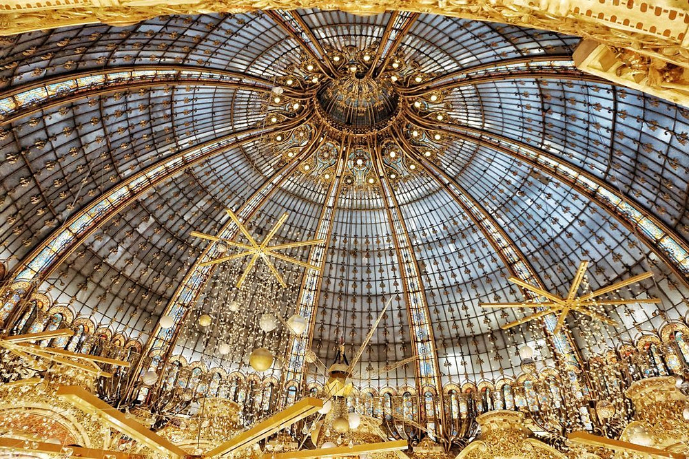 Christmas dome at galleries Lafayette