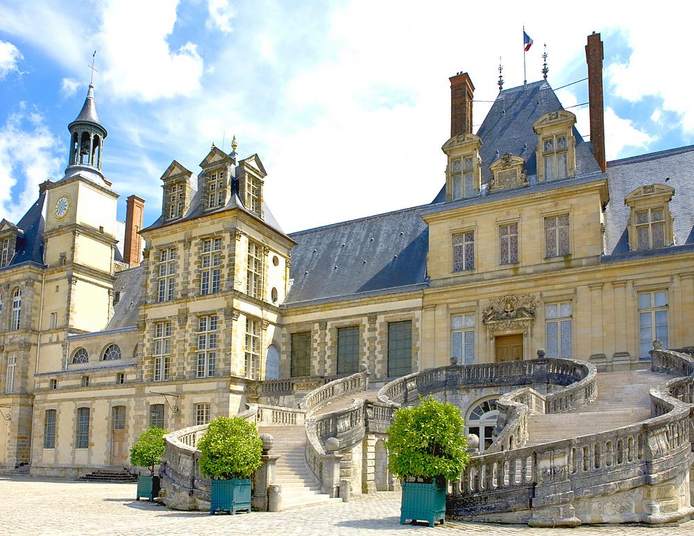 Chateau Fontainebleau outside Paris
