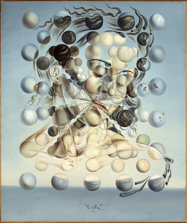 Salvador Dalí, Gala Placidia, Galatea of the Spheres, 1952