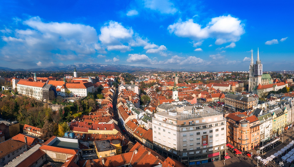 view of Zagreb from the Zagreb Eye observation deck