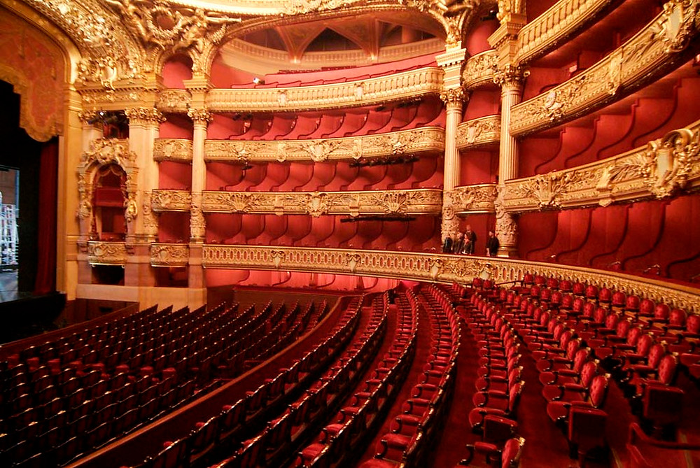 The Paris Opera auditorium.