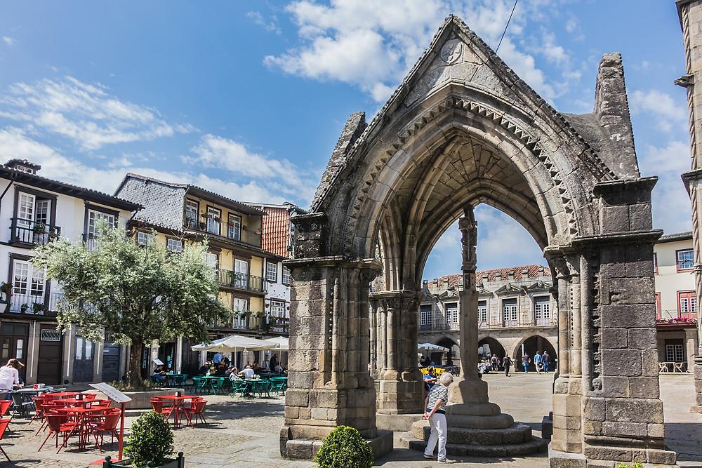 Oliveira Square (Largo da Oliveira) in old town of Guimaraes