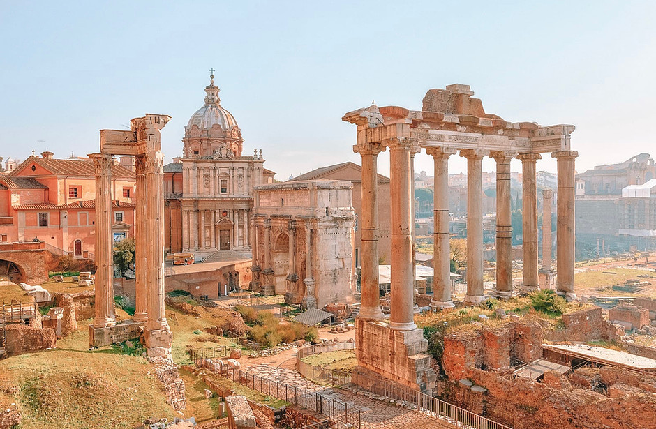 view over the Roman Forum from Capitoline Hill