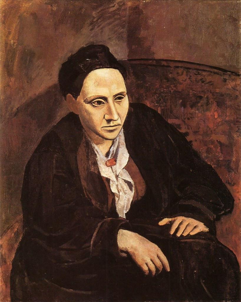 Pablo Picasso, Portrait of Gertrude Stein, 1905-06