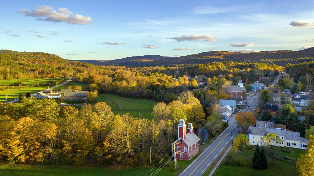 beautiful Chester Vermont in the fall