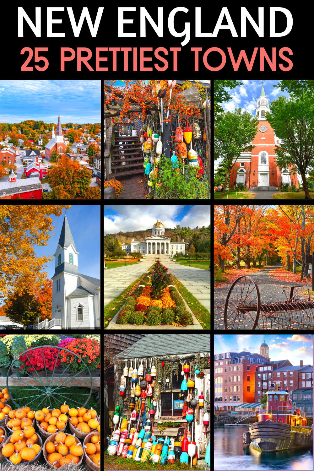 25 Prettiest Towns in New England For An East Coast Road Trip