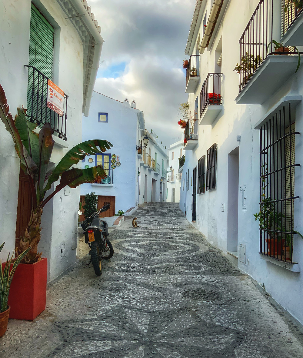 the cobbled pathways of Frigiliana Spain