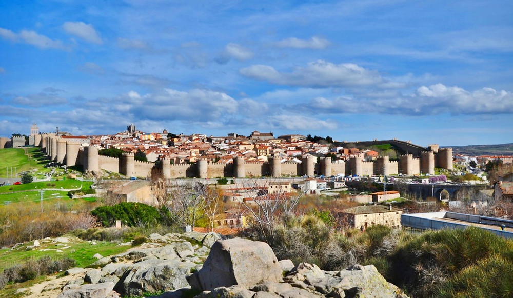 city walls of Avila Spain