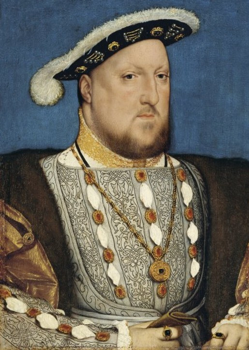 a famous portrait of England's most notorious king  -- Hans Holbein the Younger, Portrait of King Henry VIII of England, 1537