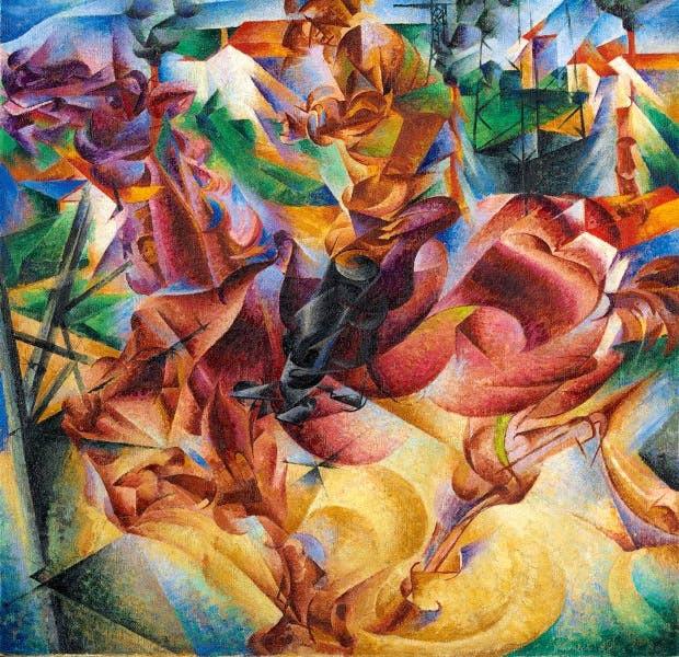 Elasticity, 1912, Umberto Boccioni