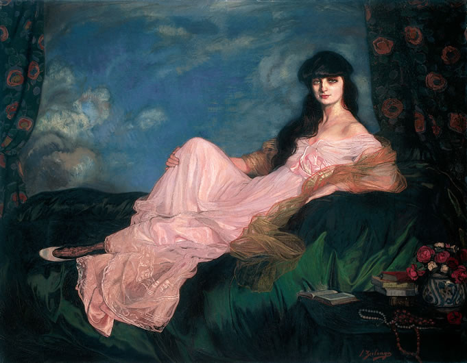 Ignacio Zuloaga, Portrait of the Countess Mathieu de Noailles, 1913 -- gorgeous portrait!