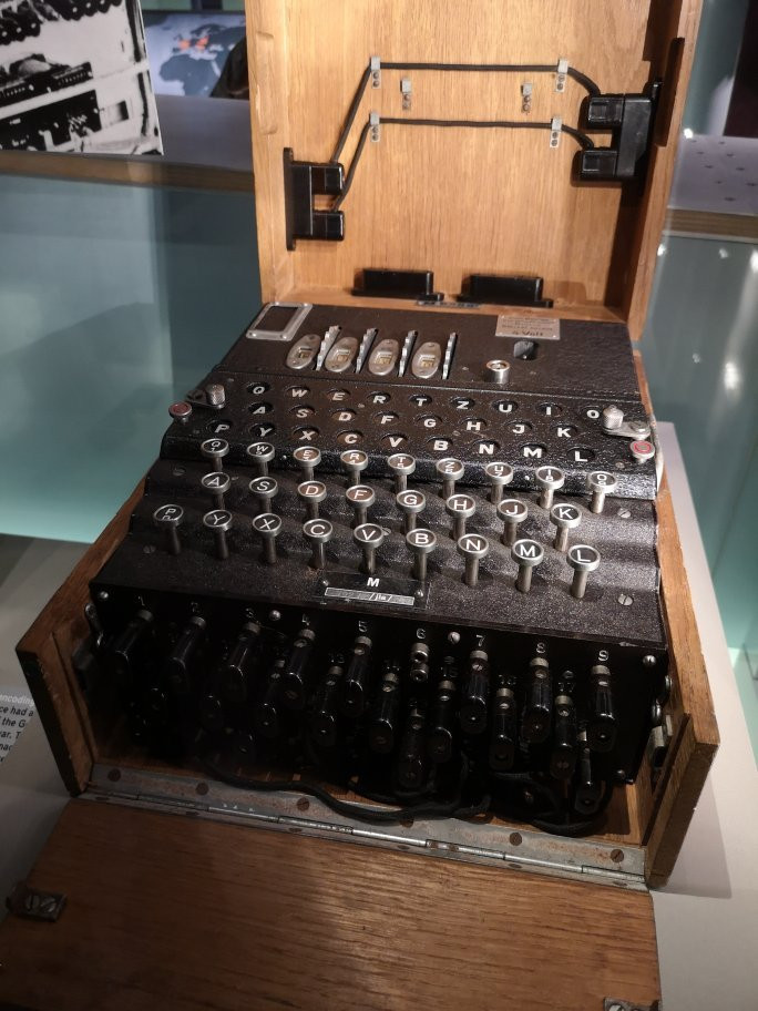 """the Remington """"noiseless"""" typewriter in the cabinet war rooms -- Churchill insisted on working in a quiet environment"""