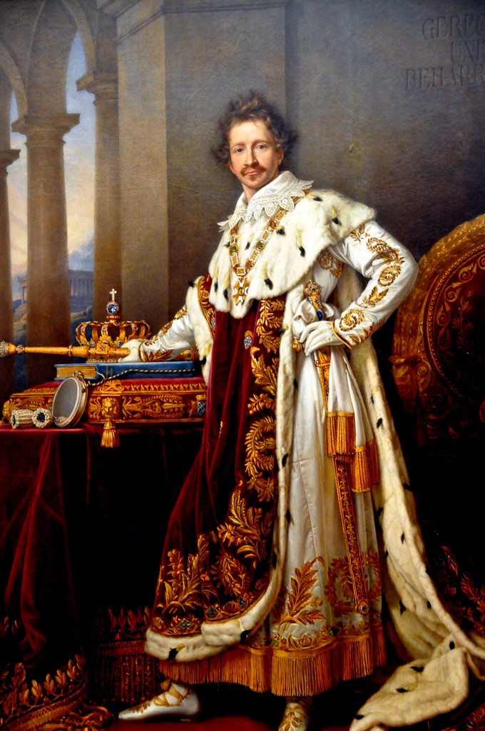 Joseph Stieler, King Ludwig I, 1825 -- Ludwig didn't have a portrait of his wife painted, but he didn't neglect himself.