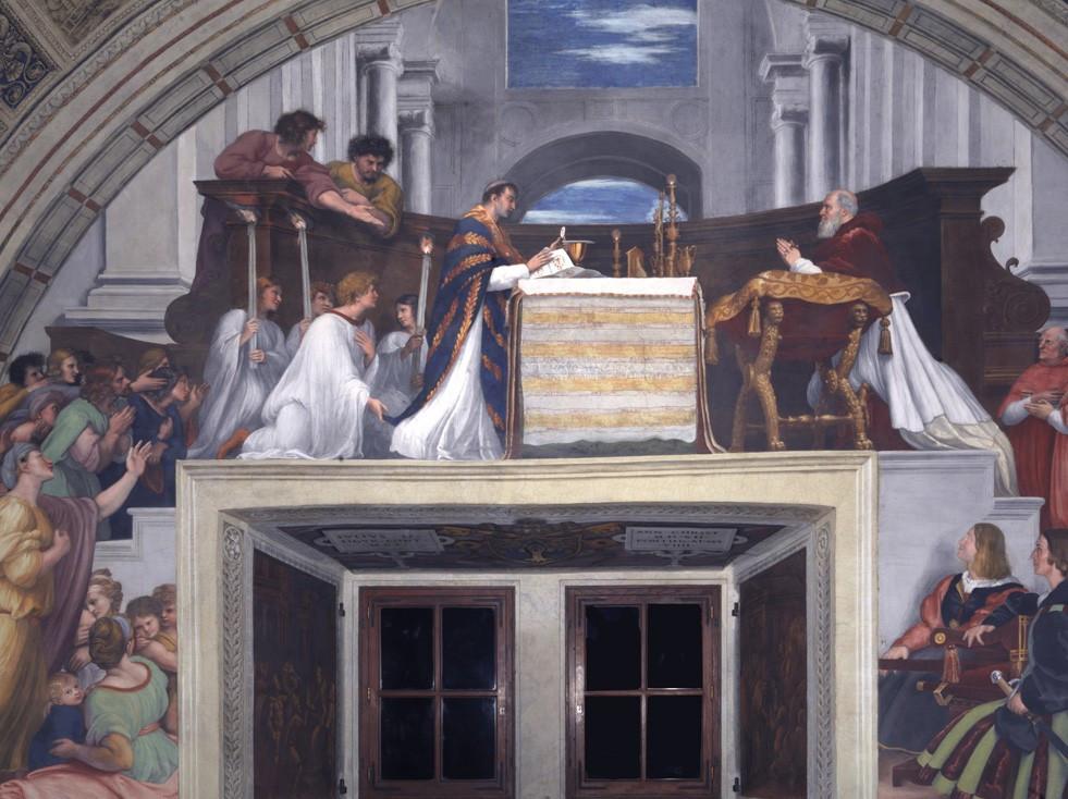 Raphael, The Miracle of Bolsena, 1512-14