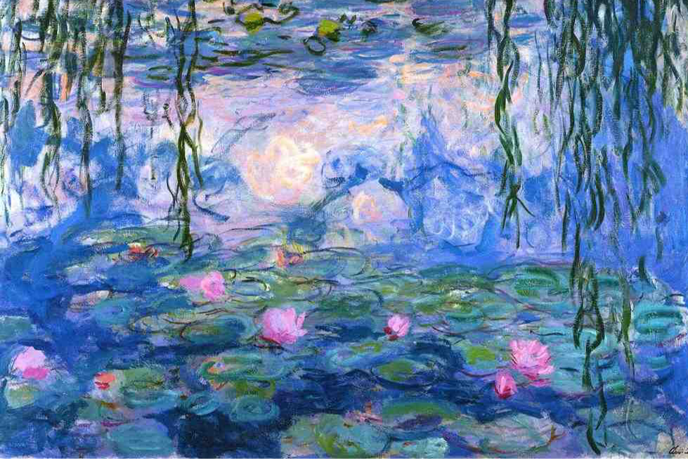 Claude Monet's iconic water lilies