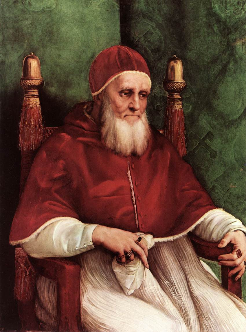 Julius II, 1511-12 -- one of Raphael's most famous and haunting paintings in the National Gallery in London