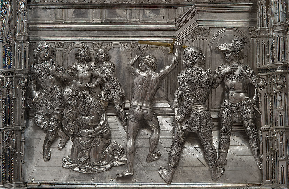 Verrocchio's Beheading of John the Baptist, a silver relief