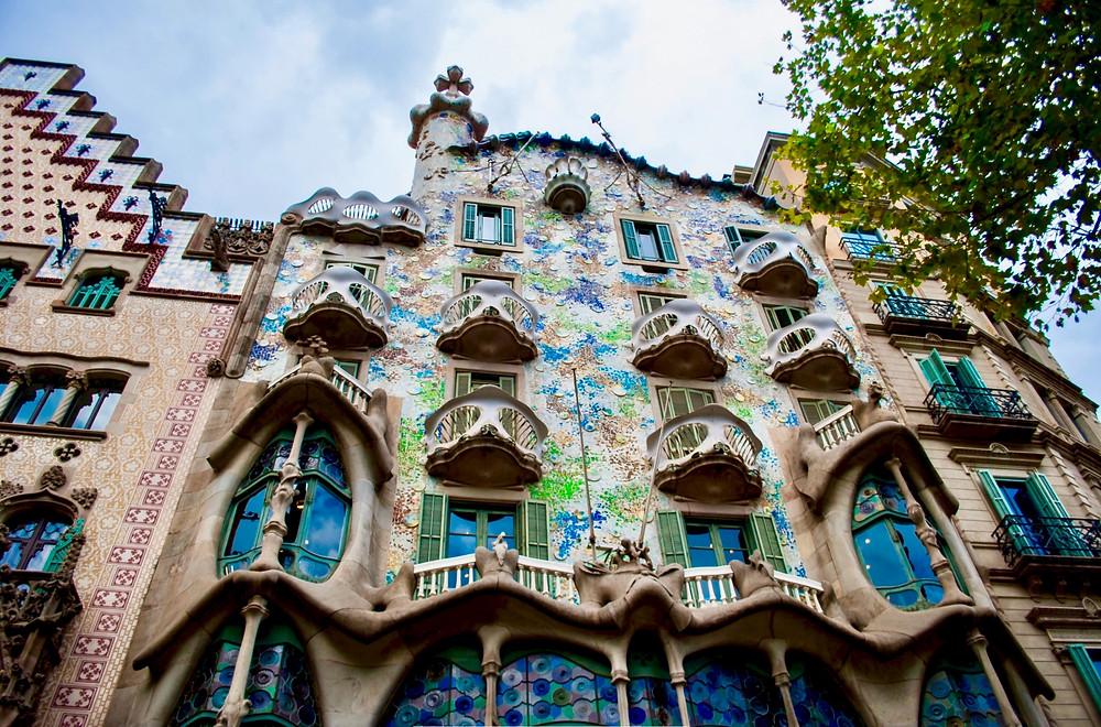 the exterior facade of the dragon building