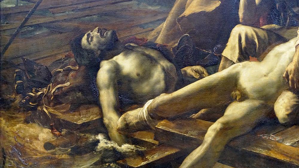 Detail, Raft of the Medusa, 1819
