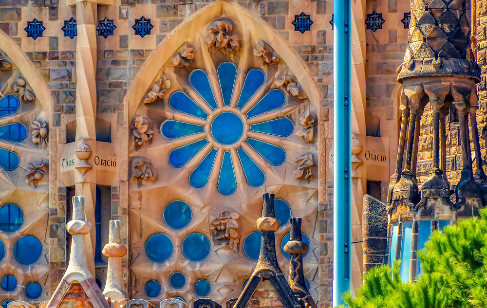 Gaudi's take on a medieval rose window