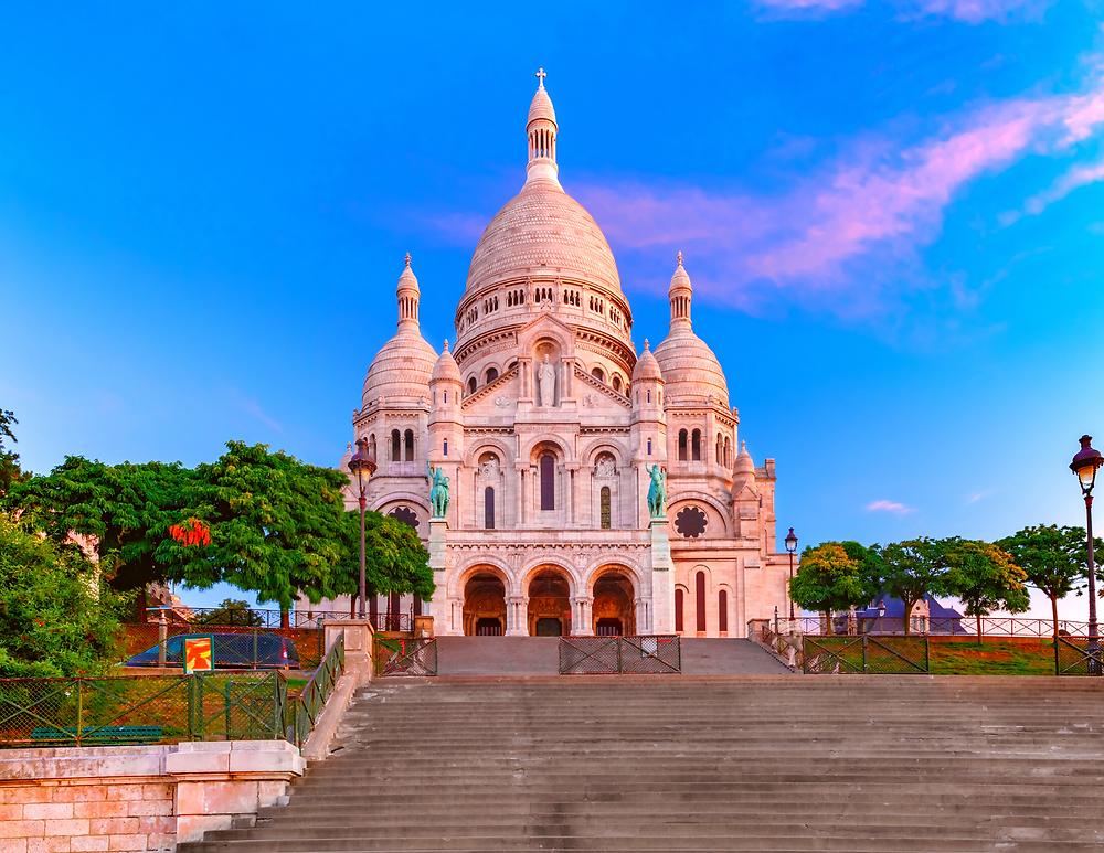 the Sacre Coeur, a landmark in Montmartre