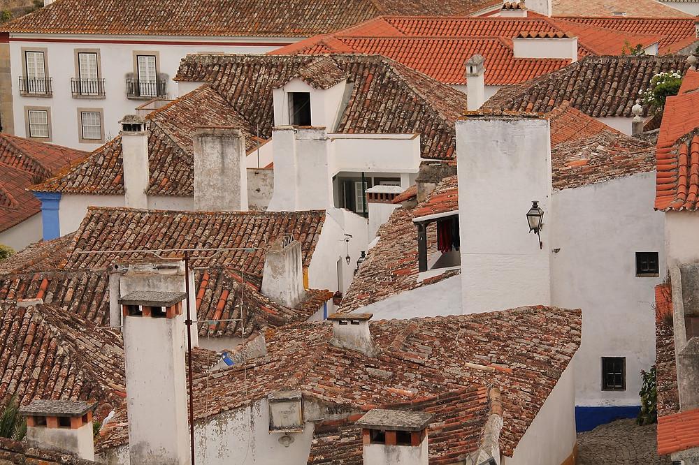 rooftops of Obidos