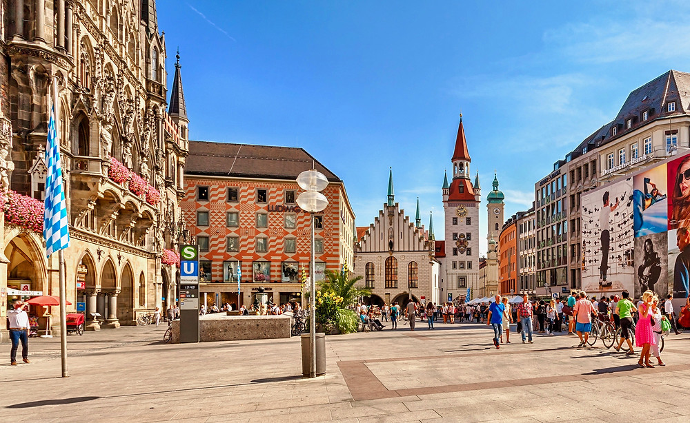Marienplatz, Munich's lively main square. Here's where you should start your day in Munich