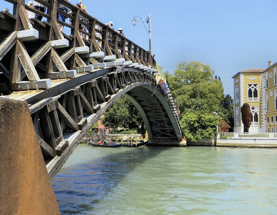Accademia Bridge along the Grand Canal