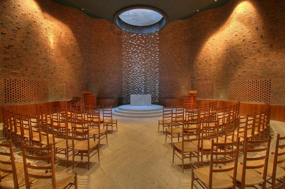 interior of MIT Chapel in Cambridge MA