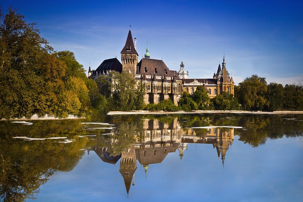 the Dracula-like Vajdahunyad Castle near Hero's Square