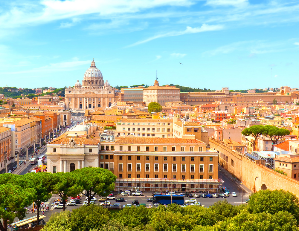 view of the Vatican and St. Peter's Basilica